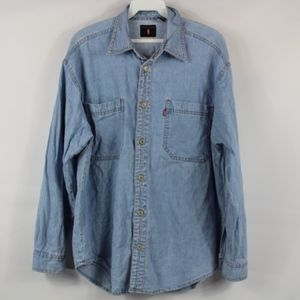 Vintage LEVIS RED TAG Mens Medium Denim Button Up